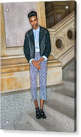 Acrylic Print featuring the photograph Teenage Boy Fashion 1504267 by Alexander Image