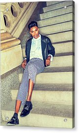 Acrylic Print featuring the photograph Teenage Casual Fashion 15042616 by Alexander Image