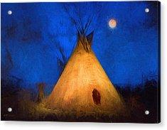 Teepee In Moonlight Acrylic Print