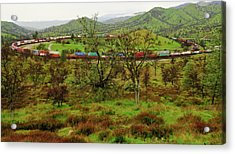 Tehachapi Train Loop Acrylic Print
