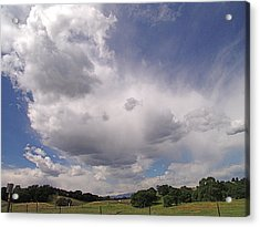 Acrylic Print featuring the photograph Tehama Clouds by John Norman Stewart