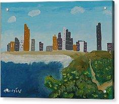 Tel Aviv Coastline Acrylic Print by Harris Gulko