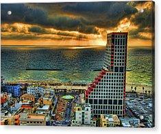 Acrylic Print featuring the photograph Tel Aviv Lego by Ron Shoshani