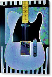 Tele  With Stripes Acrylic Print by Gregory McLaughlin