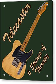 Telecaster Therapy T-shirt Acrylic Print