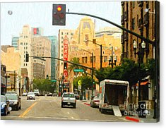 Telegraph Avenue In Oakland California Acrylic Print by Wingsdomain Art and Photography