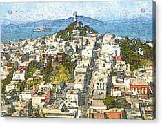 Telegraph Hill San Francisco Acrylic Print by Art America Online Gallery