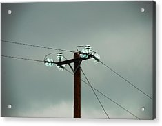 Telegraph Lines Acrylic Print by Charlie and Norma Brock