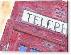 Telephone Booth Acrylic Print by Ken Powers