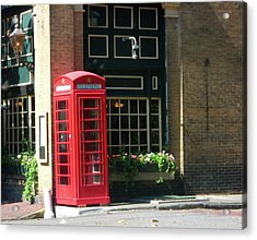 Telephone Booth Acrylic Print by Michael McKenzie