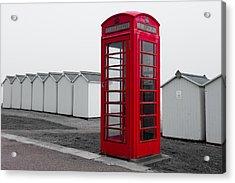 Telephone Box By The Sea I Acrylic Print