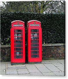 Telephone Boxes In London Acrylic Print