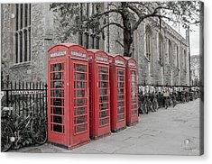 Telephone Boxes Acrylic Print