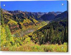 Telluride In Autumn - Colorful Colorado - Landscape Acrylic Print by Jason Politte