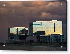 Acrylic Print featuring the photograph Tempe Town Lake Skyline by Dave Dilli