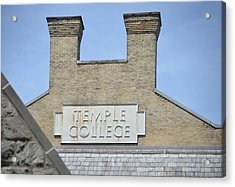 Temple College Acrylic Print by Bill Cannon