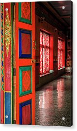 Acrylic Print featuring the photograph Temple Door by Alexey Stiop