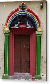 Temple Door Acrylic Print by Deepak Pawar