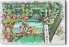 Temple Flowers Acrylic Print