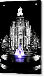 Temple Fountain  Acrylic Print by David Andersen