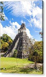 Temple I Of The Jaguar - Mayan Ruins Of Tikal - Guatemala Acrylic Print
