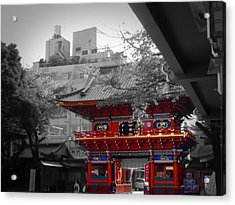 Temple In Tokyo Acrylic Print by Naxart Studio