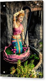 Temple Lady Statue Acrylic Print