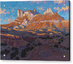 Temple Mountain Tapestry Acrylic Print