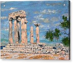 Temple Of Apollo  Acrylic Print by Dan Bozich