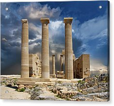 Temple Of Athena Acrylic Print