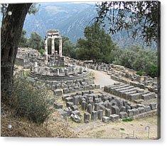 Temple Of Athena At Delphi Acrylic Print
