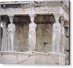 Temple Of Athena Nike Erectheum Acrylic Print by Panoramic Images