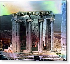 Acrylic Print featuring the photograph Temple Of Athena by Robert G Kernodle