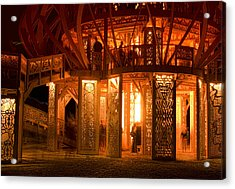 Temple Of Fire Acrylic Print by Michael Cleere