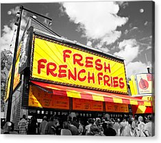 Temple Of Fries Acrylic Print by Jim Hughes