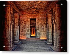 Temple Of Hathor And Nefertari Abu Simbel Acrylic Print