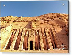 Temple Of Hathor/nefertari Acrylic Print by Theodore Liasi