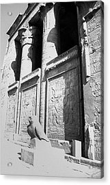 Acrylic Print featuring the photograph Temple Of Horus by Silvia Bruno