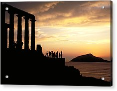 Temple Of Poseiden In Greece Acrylic Print