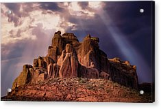 Temple Of Red Stone Acrylic Print