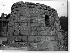 Acrylic Print featuring the photograph Temple Of The Sun, Machu Picchu, Peru by Aidan Moran