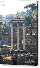 Temple Of Vesta Arch Of Titus. Temple Of Castor And Pollux. Forum Romanum Acrylic Print by Bernard Jaubert