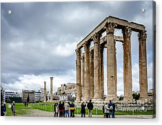 Temple Of Zeus And Acropolis - Athens Greece Acrylic Print by Debra Martz