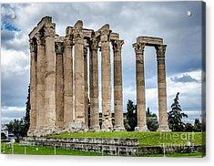 Temple Of Zeus - Athens Greece Acrylic Print by Debra Martz
