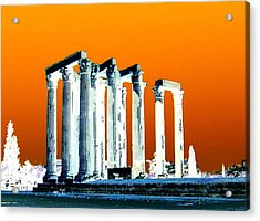 Temple Of Zeus, Athens Acrylic Print by Karen J Shine
