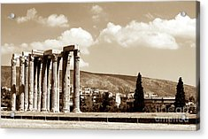 Temple Of Zeus Acrylic Print by John Rizzuto