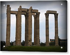 Temple Of Zeus Acrylic Print by Kevin Flynn
