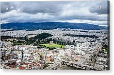 Temple Of Zeus - View From The Acropolis Acrylic Print by Debra Martz