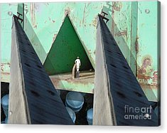 Temple Acrylic Print by Ron Bissett