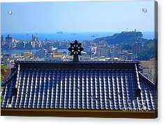 Temple Roof And Kaohsiung Port Acrylic Print by Yali Shi